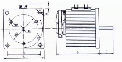 Technical Drawings - Single-phase variators for unprotected back-of-board - 300-500-1000-1500 VA