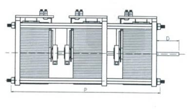 Technical Drawings - Three-phase variators for unprotected back-of-board - 6600-9900-13400-21000-2100 VA