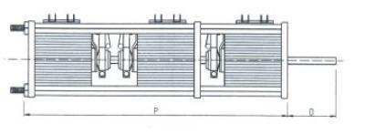 Disegno tecnico - Variatore trifase da retroquadro a giorno - 900-1500-3000-4500 VA