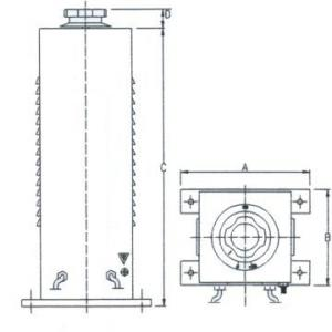 Technical Drawings - Three-phase variators for bench or protected back-of-board - 900-1500-3000-4500 VA