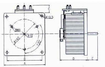 Disegno tecnico - Variatore monofase da retroquadro a giorno - 2200-3300-4100-5100-7000-8000 VA